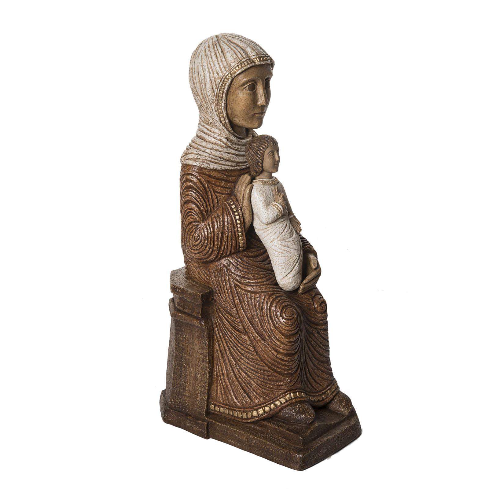Big Autumn Crib Mary and Jesus statue in stone Bethléem 4