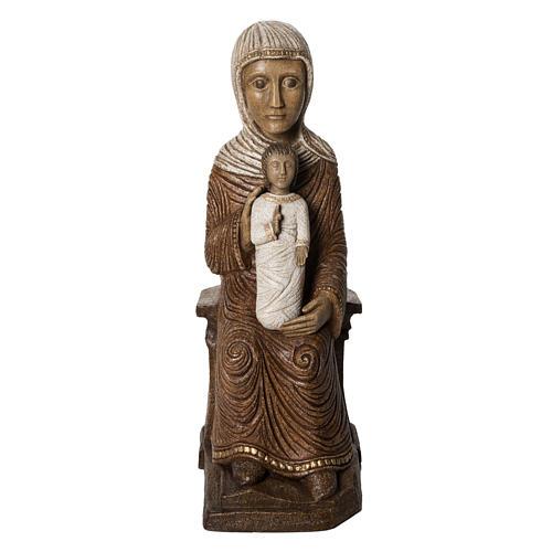 Big Autumn Crib Mary and Jesus statue in stone Bethléem 1