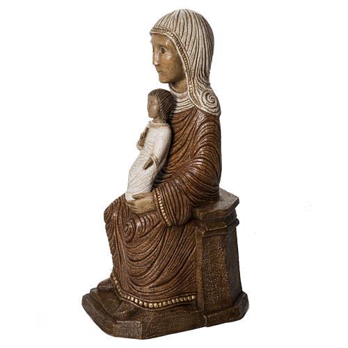 Big Autumn Crib Mary and Jesus statue in stone Bethléem 3