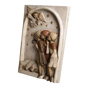 Big Autumn Nativity Scene shepherds bas relief in stone Bethleem s3