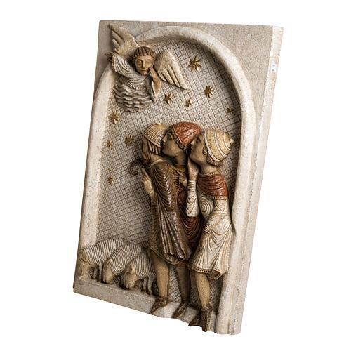 Big Autumn Nativity Scene shepherds bas relief in stone Bethleem 3