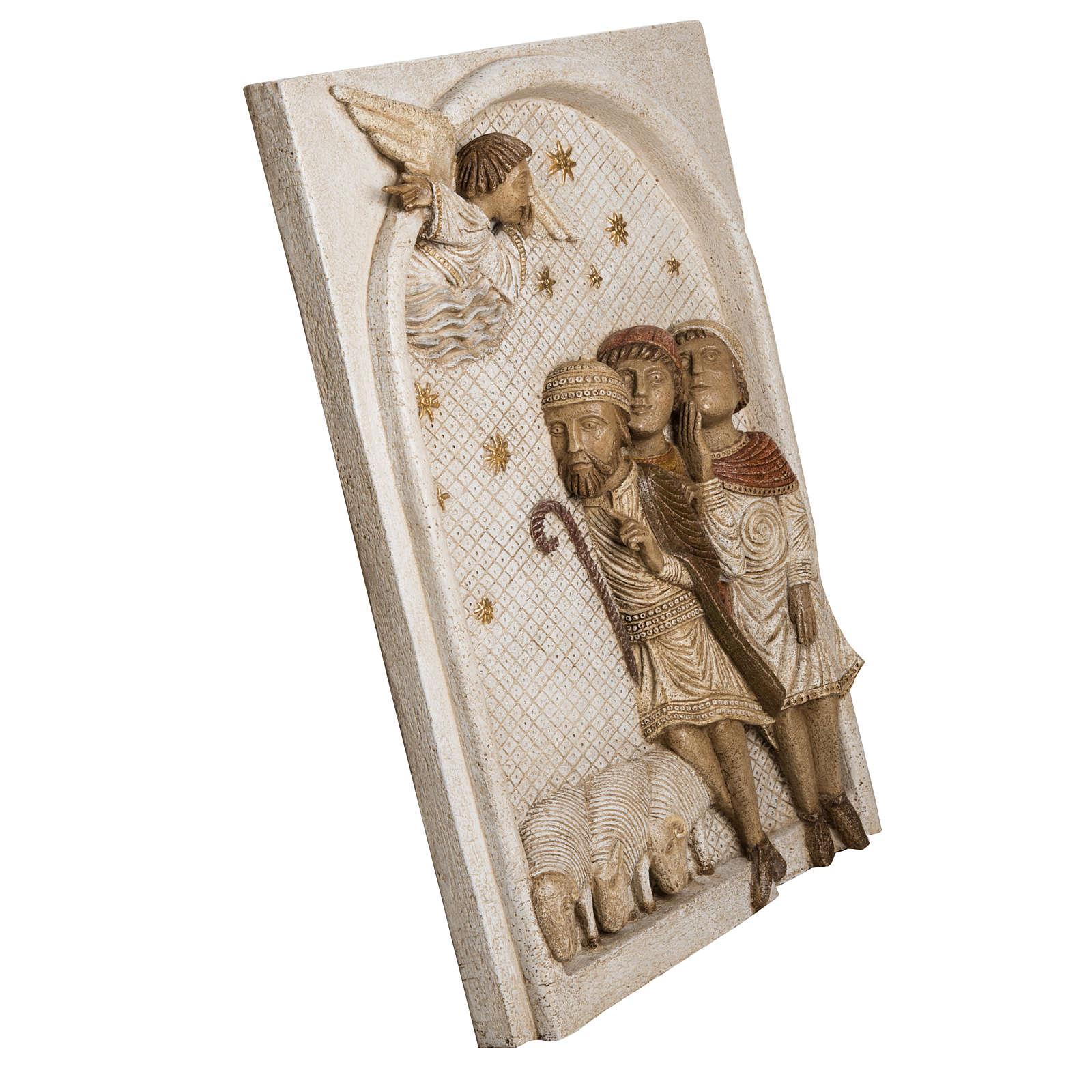 Rilievo Pastori pietra Bethléem Gran Presepe Autunno bianco 4