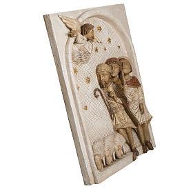 Rilievo Pastori pietra Bethléem Gran Presepe Autunno bianco s2