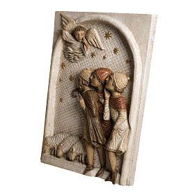 Rilievo Pastori pietra Bethléem Gran Presepe Autunno bianco s3