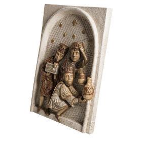Big Autumn Nativity Scene Wise Men bas relief in stone, Bethleem s3