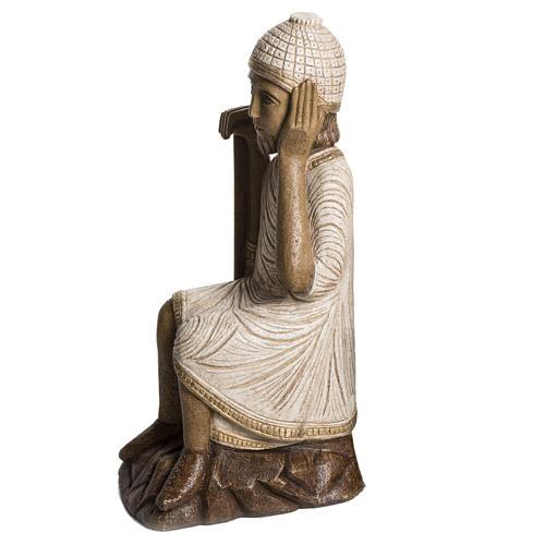 Joseph grande crèche d'autun pierre blanche Bethlee 2