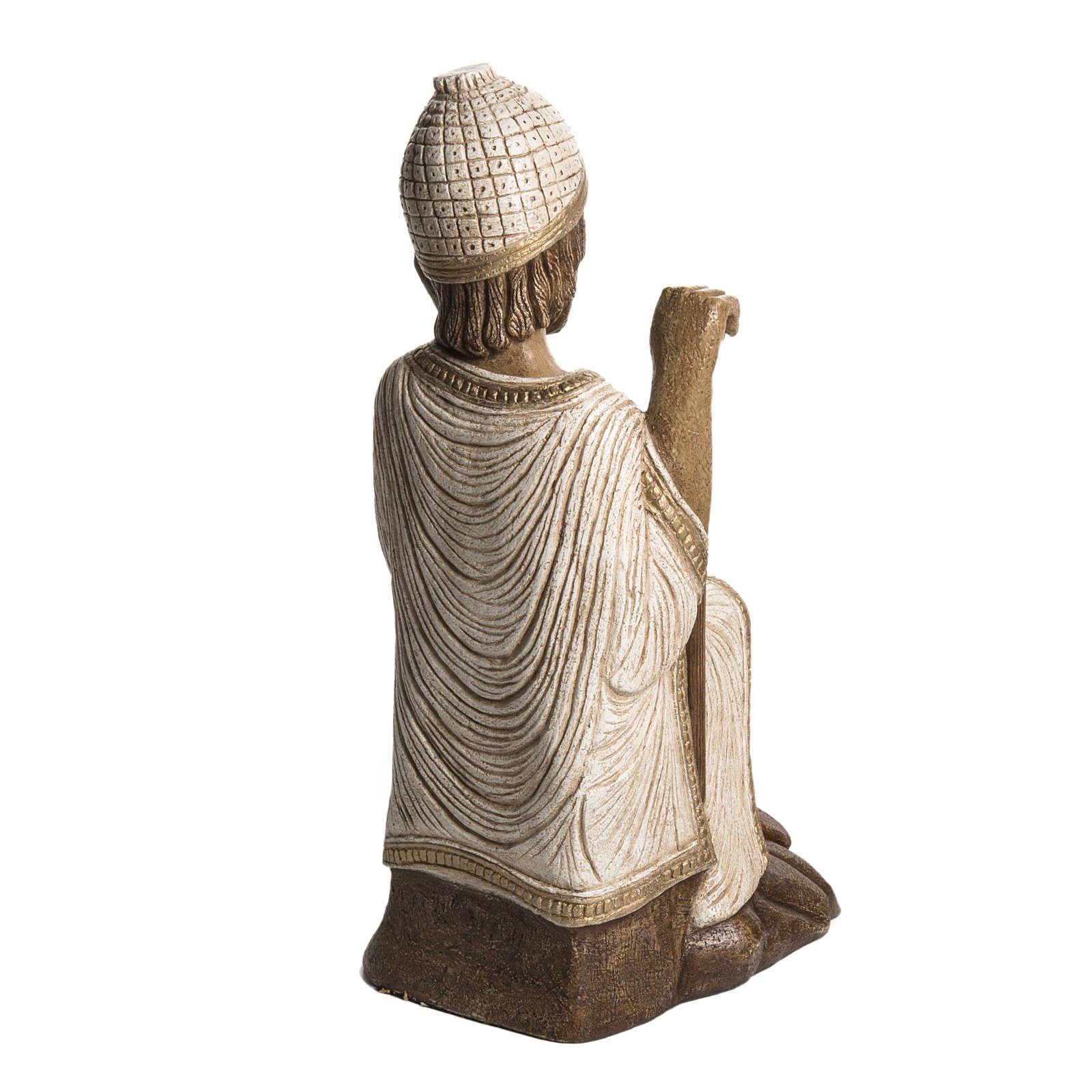 S. Giuseppe pietra Bethléem Gran Presepe Autunno bianco 4