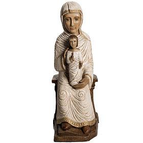 Vierge enfant grande crèche d'autun pierre blanche Bethéem s1