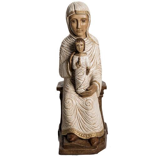 Vierge enfant grande crèche d'autun pierre blanche Bethéem 1