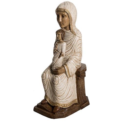 Vierge enfant grande crèche d'autun pierre blanche Bethéem 2