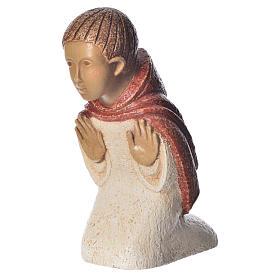 Shepherd in contemplation, red dress, rural crèche s1