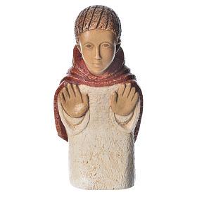 Shepherd in contemplation, red dress, rural crèche s2