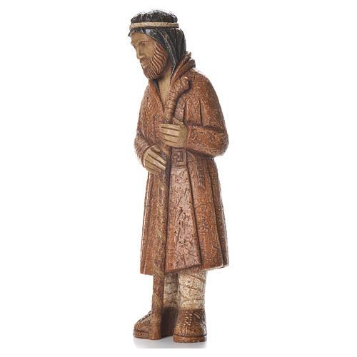 Pastore in piedi con bastone terra di Siena Pres. Contadino 2