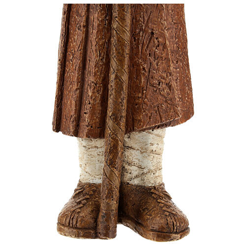 Pastore in piedi con bastone terra di Siena Pres. Contadino 6