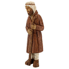 Standing shepherd with stick in sienna, farming nativity collection s3