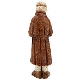 Standing shepherd with stick in sienna, farming nativity collection s7
