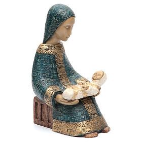 Virgen con niño Natividad Campesina azul s4
