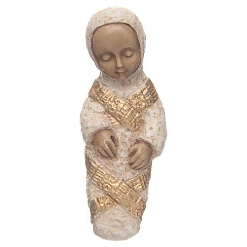 Vierge à l'enfant Nativité paysanne bleu 6