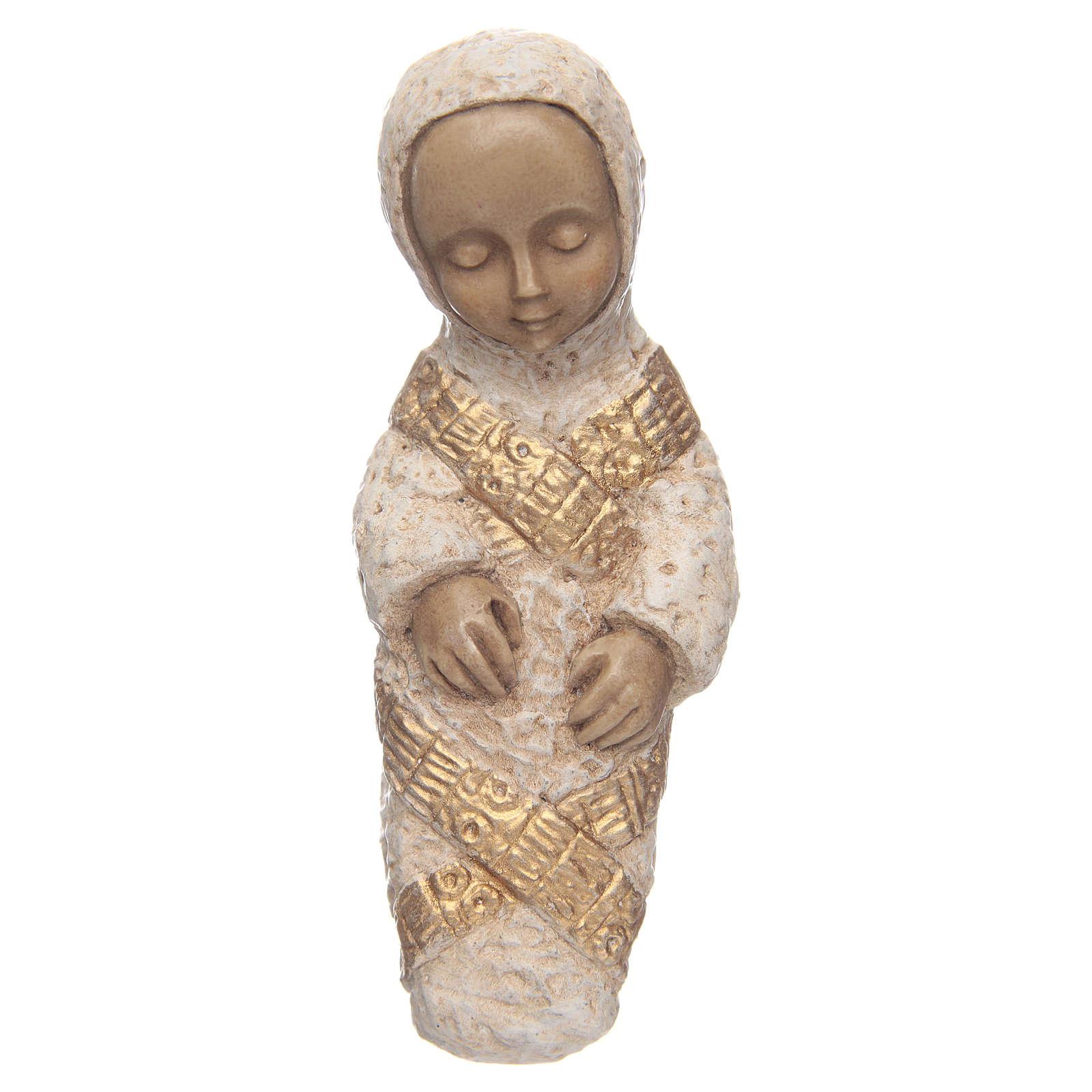 The Virgin Mary with Baby Jesus farmer Nativity blue 4