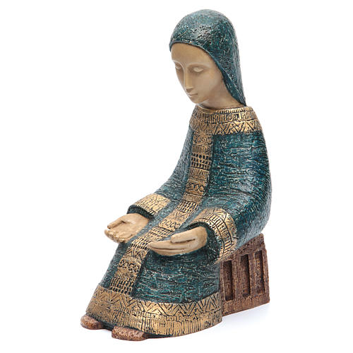 The Virgin Mary with Baby Jesus farmer Nativity blue 5