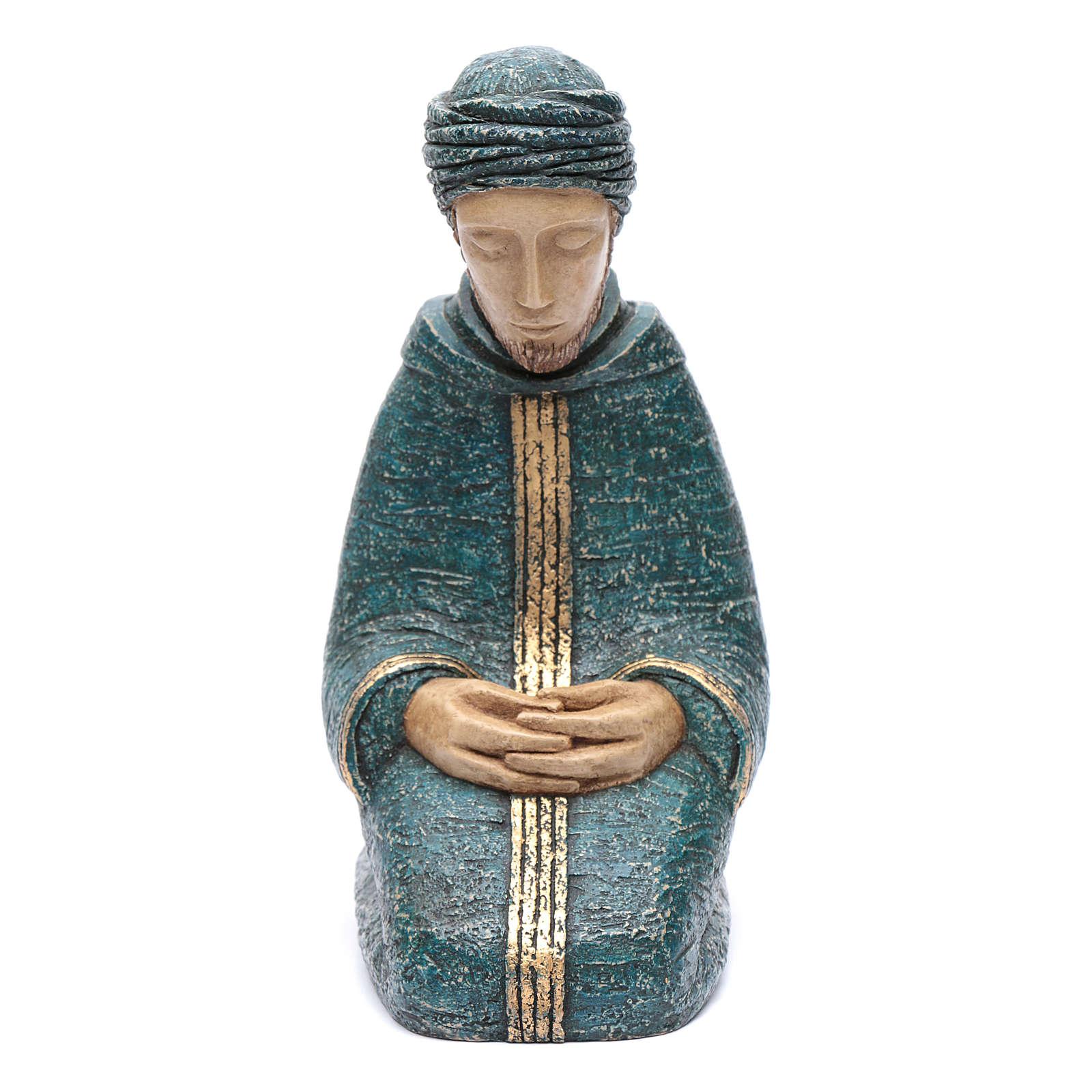 Saint Joseph bleu Nativité paysanne Bethléem 4