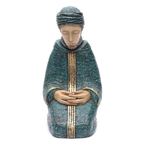 Saint Joseph bleu Nativité paysanne Bethléem 1