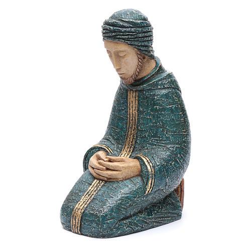 Saint Joseph bleu Nativité paysanne Bethléem 2