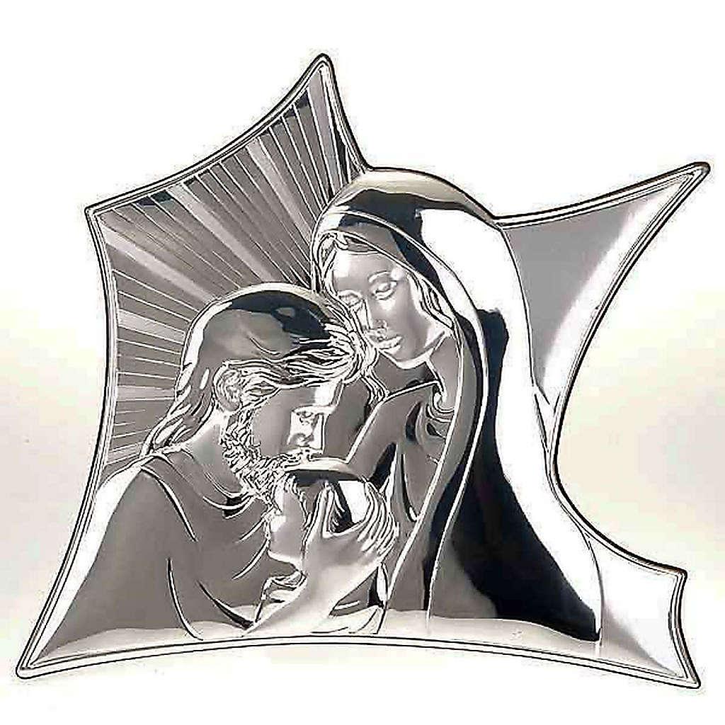 Bas relief Marie et Joseph qui embrassent Jésus 4
