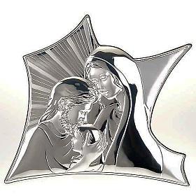 Bas relief Marie et Joseph qui embrassent Jésus s1