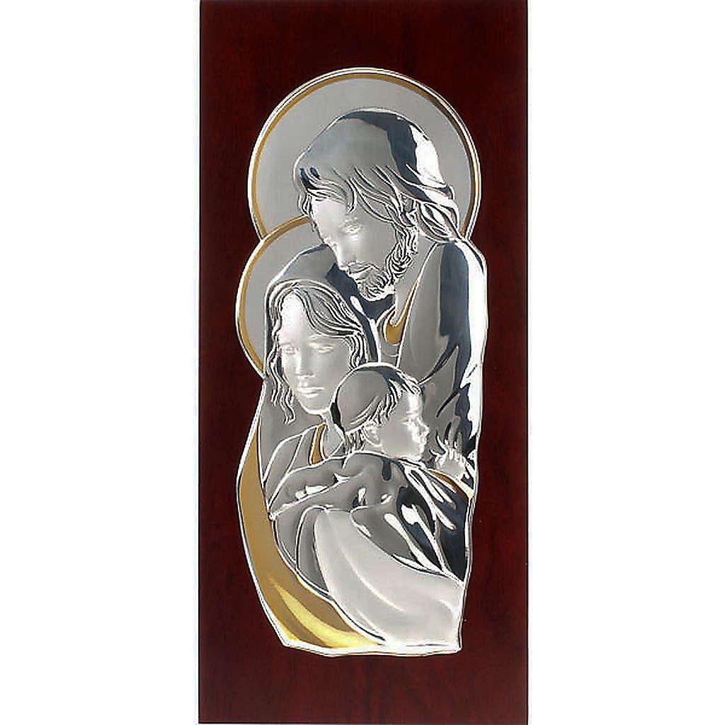 Bassorilievo bilaminato oro arg. Sacra Famiglia rettangolare 4