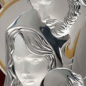 Bassorilievo bilaminato oro arg. Sacra Famiglia rettangolare s3
