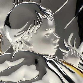 Bassorilievo bilaminato oro arg. Sacra Famiglia rettangolare s4