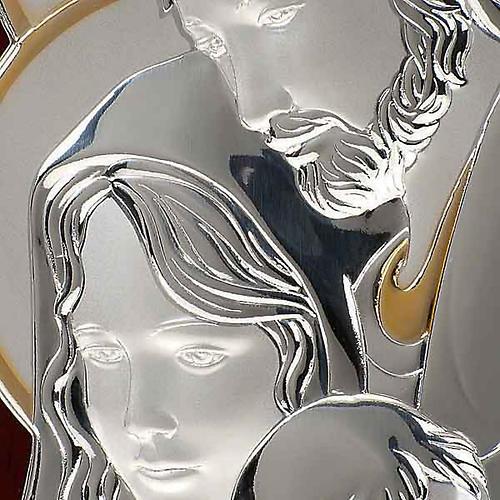 Bassorilievo bilaminato oro arg. Sacra Famiglia rettangolare 3