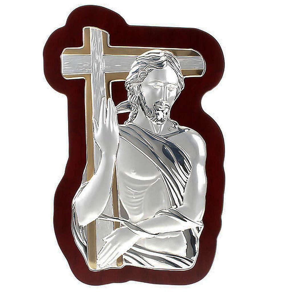 Bassorilievo bilaminato oro arg. Gesù con croce irregolar 4