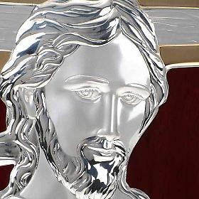 Bassorilievo bilaminato oro arg. Gesù con croce irregolar s3