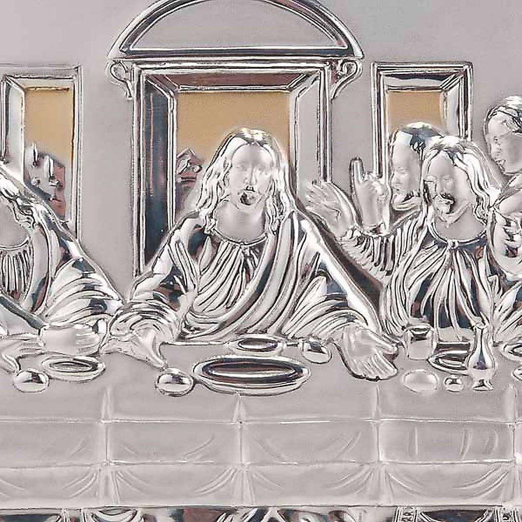Bajorrelieve oro/plata última cena de Leonardo 4