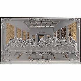 Bajorrelieve oro/plata última cena de Leonardo s1