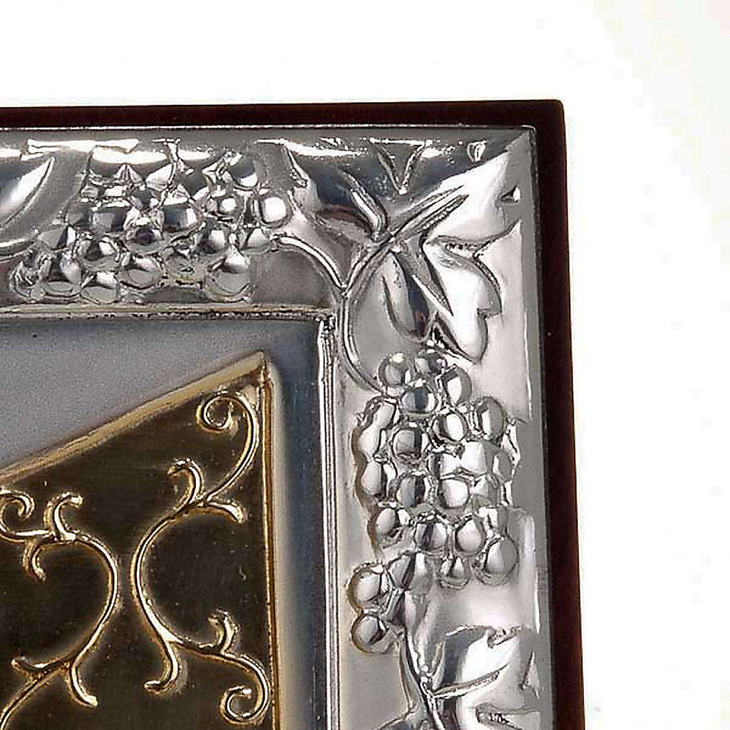 Bassorilievo bilaminato oro argento Ultima cena Leonardo 4