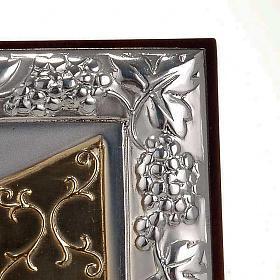 Bassorilievo bilaminato oro argento Ultima cena Leonardo s3