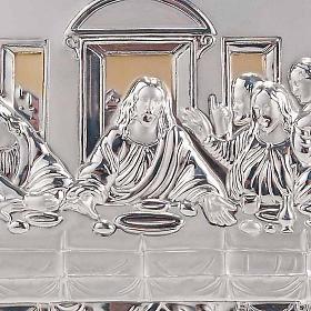 Bassorilievo bilaminato oro argento Ultima cena Leonardo s4