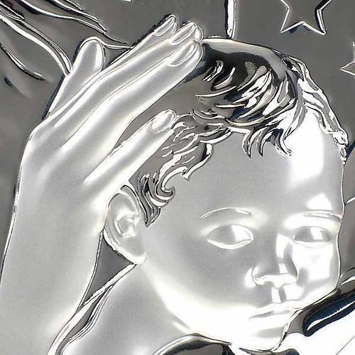 Bassorilievo bilaminato Madonna con bimbo quadrato 3
