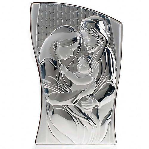 Bajorrelieve oro/plata Sagrada Familia - rectangular 1