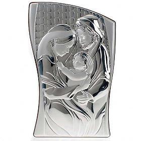 Bas relief argent sainte famille, rectangulaire s1