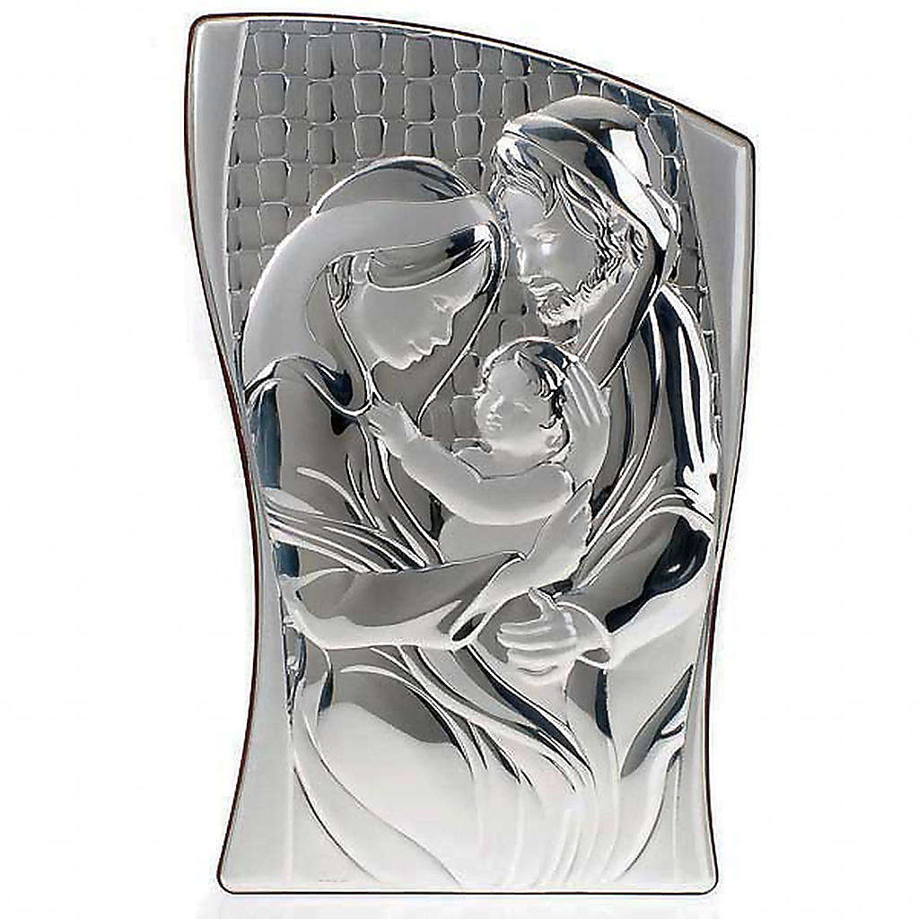 Holy Family Bas Relief in bilaminated silver 4