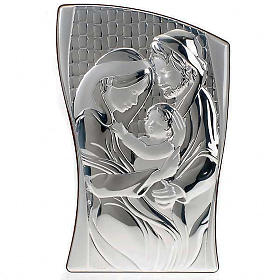 Holy Family Bas Relief in bilaminated silver s1