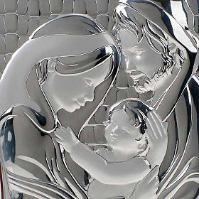 Holy Family Bas Relief in bilaminated silver s3