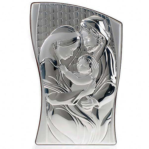 Holy Family Bas Relief in bilaminated silver 1