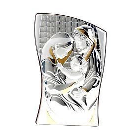 Bassorilievo bilaminato oro argento Sacra Famiglia s1