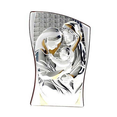 Bassorilievo bilaminato oro argento Sacra Famiglia 1