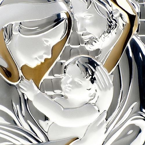 Bassorilievo bilaminato oro argento Sacra Famiglia 2